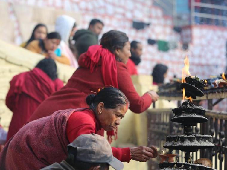 Hindu devotees celebrate Madhav Narayan Festival in Sankhu, Nepal