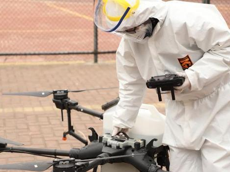 Drone used to prevent coronavirus infection in SW China
