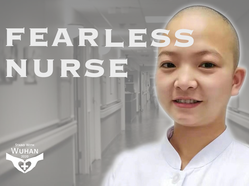 Poster: Fearless nurse fights the NCP epidemic