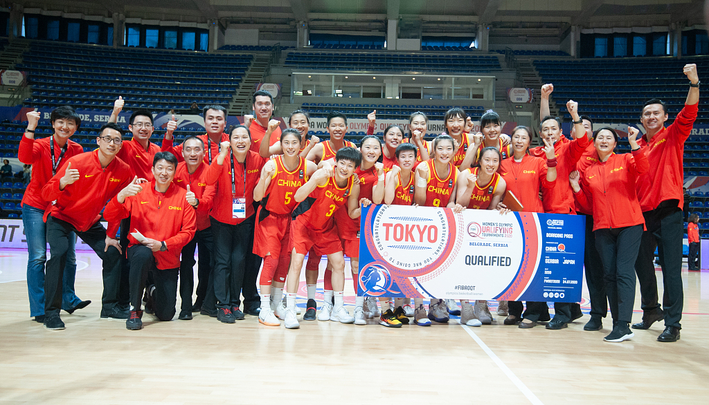 China women's basketball team qualify for Tokyo Olympics, beat Spain
