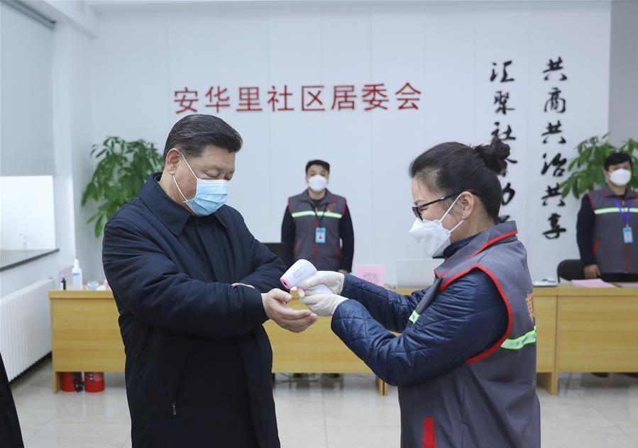 Xi inspects novel coronavirus prevention, control work in Beijing