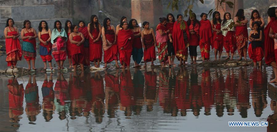 People attend final day of month-long Madhav Narayan festival in Nepal