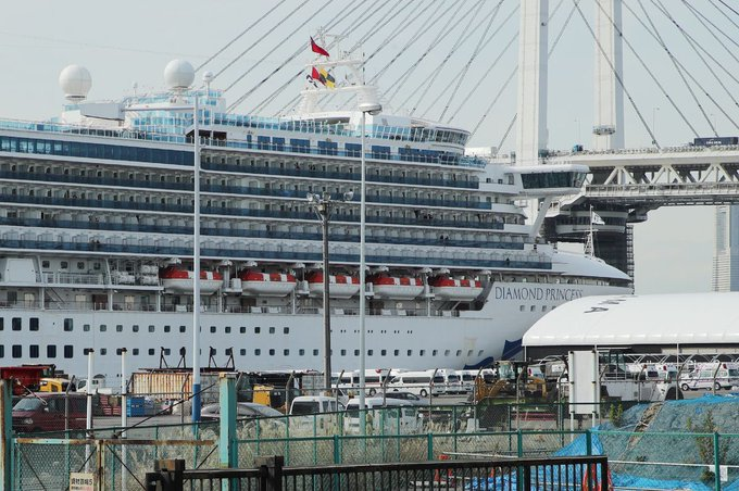 40 new cases of novel coronavirus confirmed on ship quarantined near Tokyo