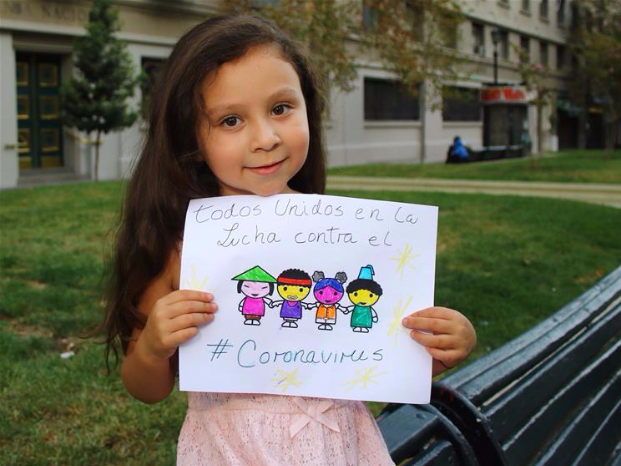 5-year-old girl in Chile draws pictures to cheer for China in fighting novel coronavirus