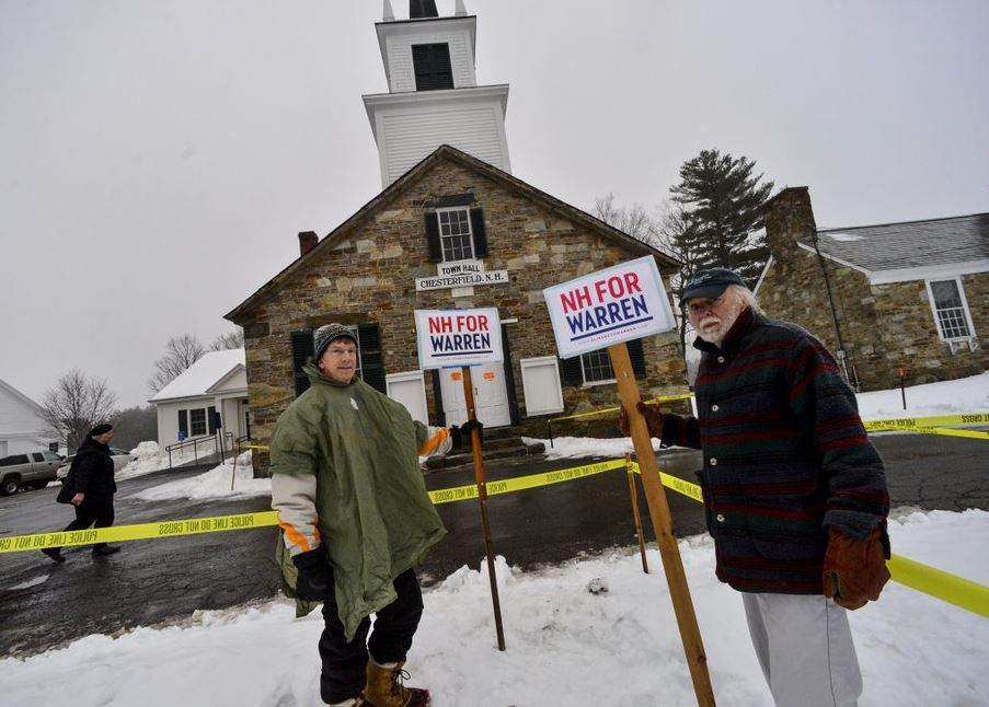 New Hampshire voting underway as 2020 Democrats seek clarity