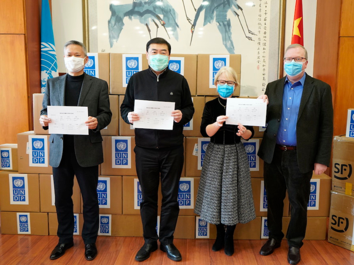 UNDP provides critical medical supplies to combat epidemic