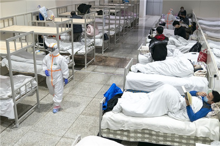 Makeshift hospital in Wuhan accepts over 900 patients infected with coronavirus