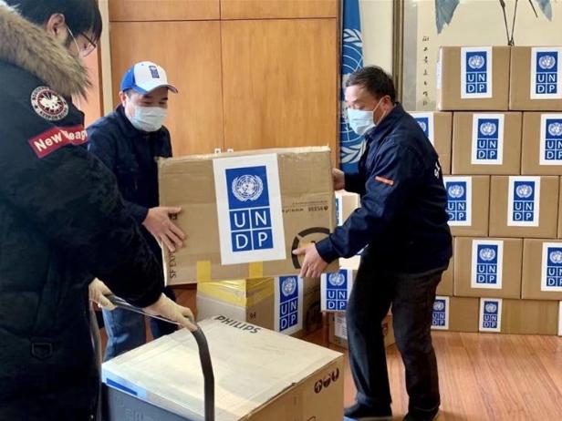 UNDP donates emergency medical supplies to help China combat coronavirus
