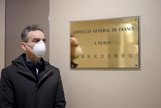 French consulate in Wuhan remains busy