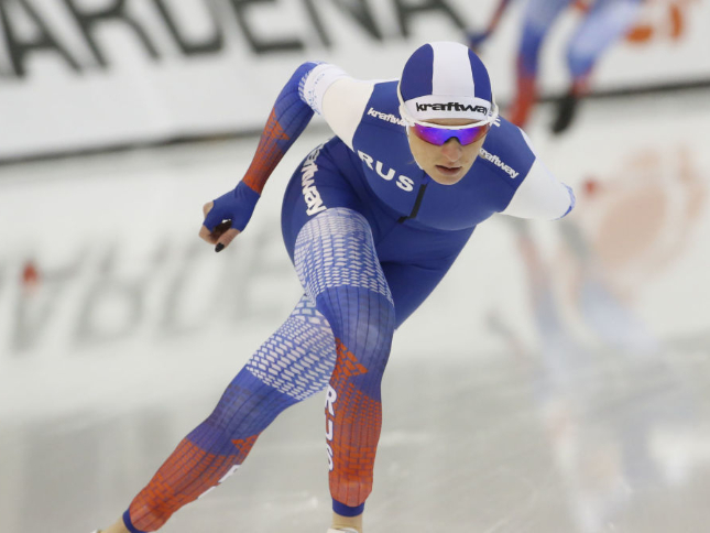 Russia's Voronina sets new record in women's 5,000m speed skating