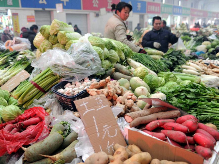 China Shouguang vegetable price index up 3.55 pct