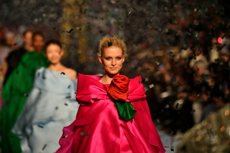 Rising star turns up the glamour at London fashion