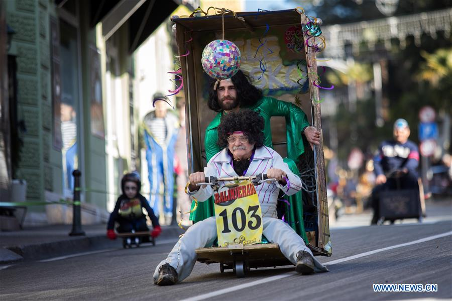Soapbox Race held during carnival parade in Croatia