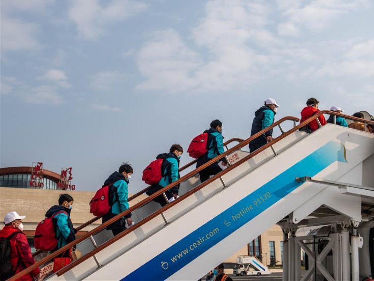 Fifth batch of medical workers from Yunnan leave for Hubei