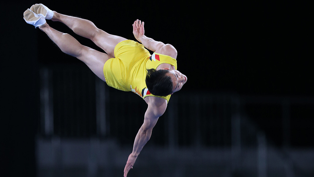 China dominate trampoline events at the FIG World Cup in Baku