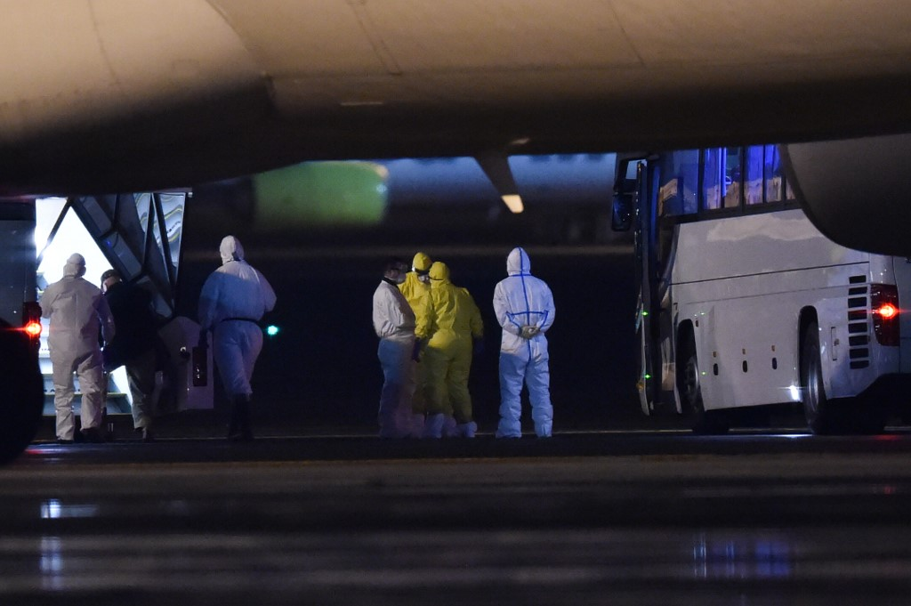 14 test positive among US plane evacuees from Japan virus ship: State Dept