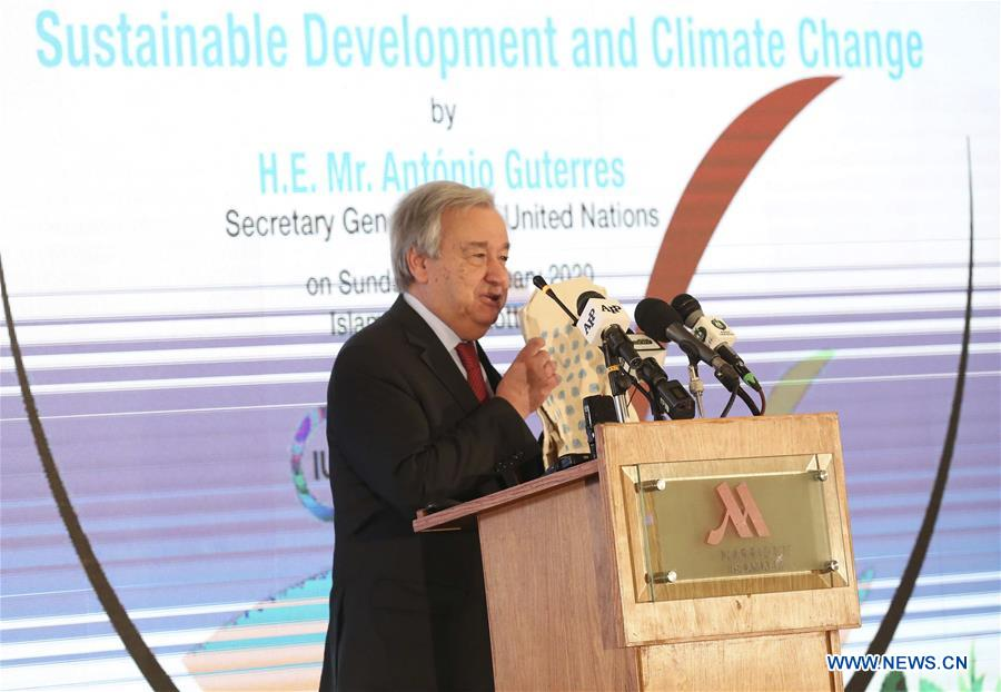 UN chief calls for greater global efforts to tackle climate change