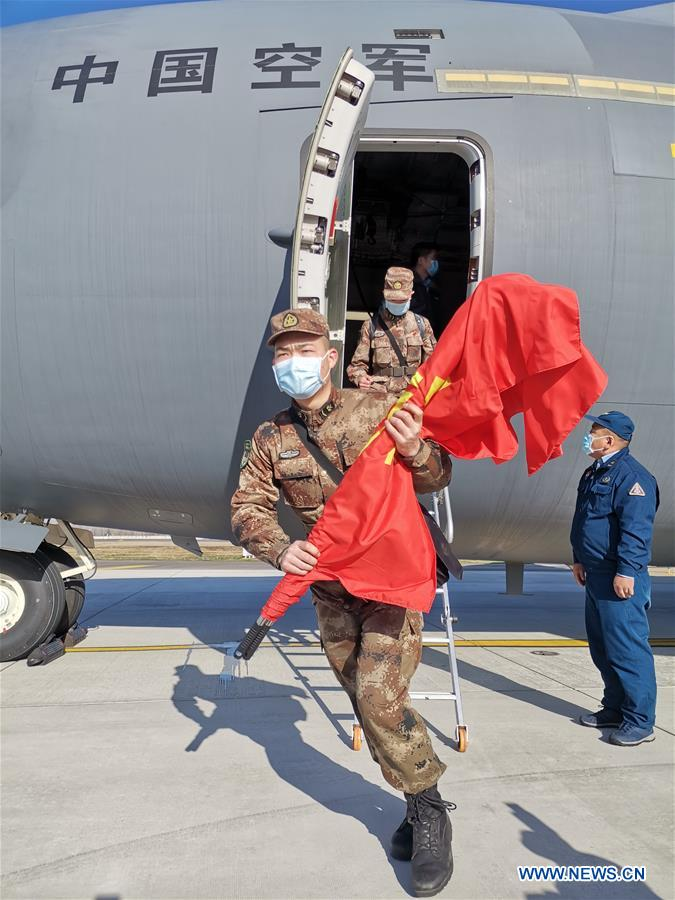 Eight transport aircraft of PLA Air Force send medics to Wuhan