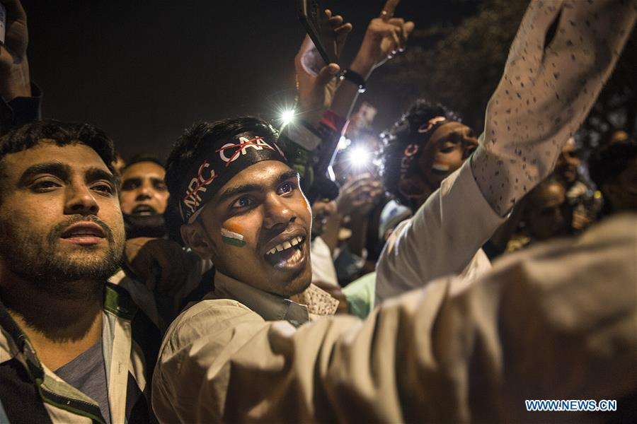 Protest against new citizenship law held in New Delhi, India