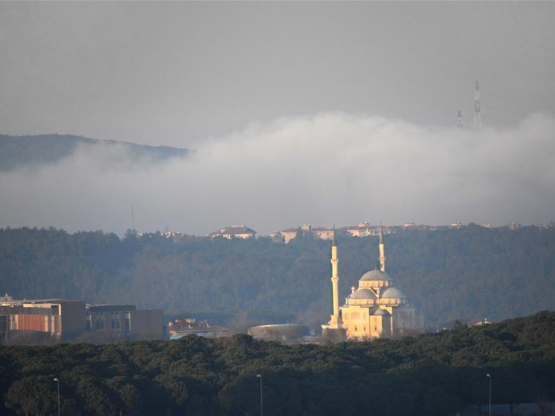 Istanbul shrouded by thick fog