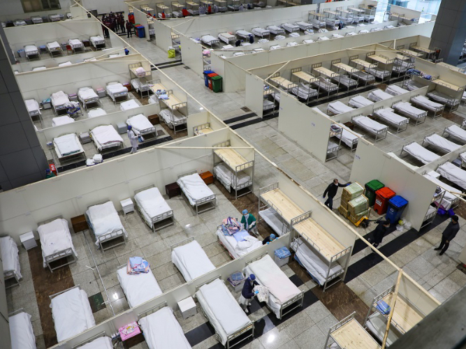 12 cabin hospitals for mild cases in operation in Wuhan