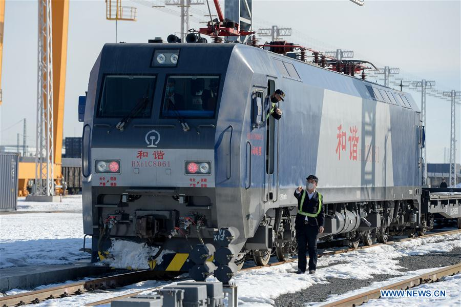 China-Europe freight train leaves Urumqi for Turkey