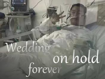 Poster: Wedding on hold forever
