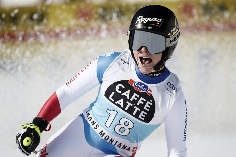 Gut-Behrami ends 2-year wait for win in a World Cup downhill