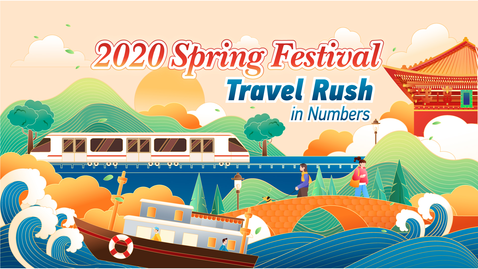 2020 Spring Festival travel rush in numbers