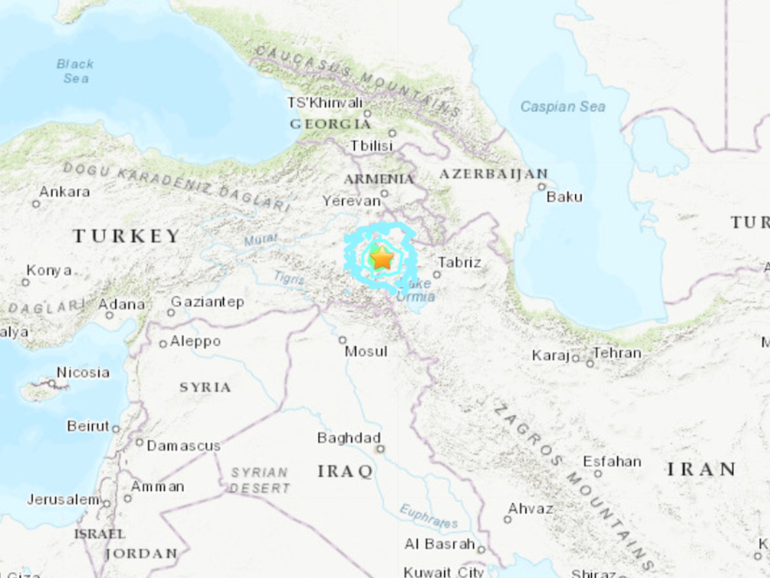 At least 7 killed in earthquake near Turkey-Iran border: local media