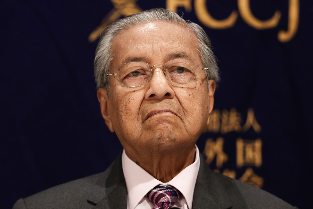Malaysian PM Mahathir hands in resignation letter