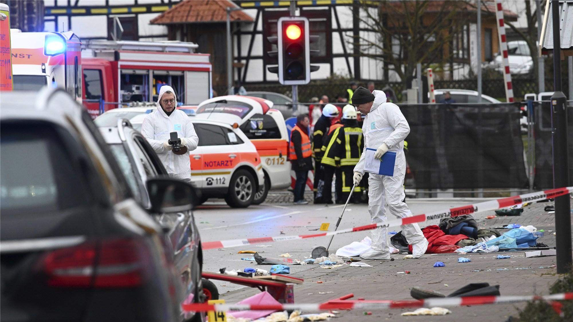 German police seek motive in car ramming