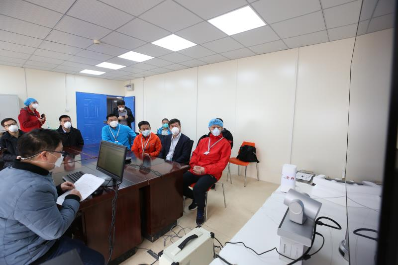 Scholar and experts hold consultation via 5G network