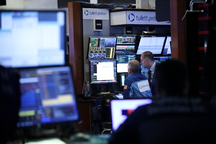 US stocks close sharply lower rising risk aversion