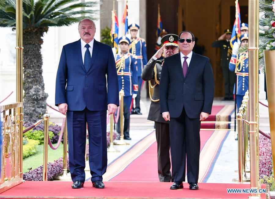 Egyptian president meets with Belarusian counterpart in Cairo
