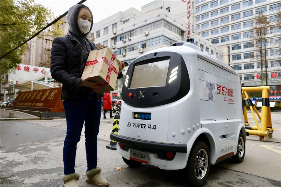 JD steps up development of smart logistics system