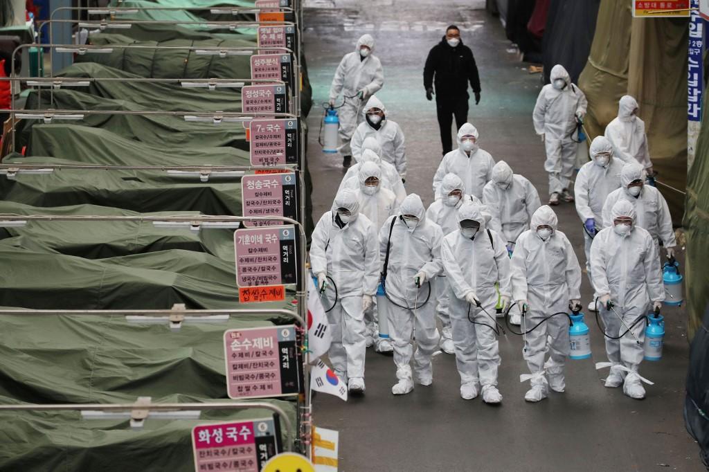 South Korea reports 334 new coronavirus cases, total 1,595