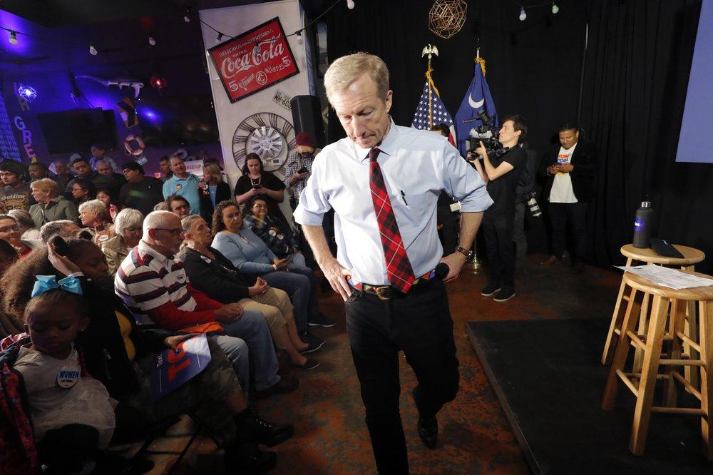 Billionaire Tom Steyer ends 2020 Democratic presidential bid