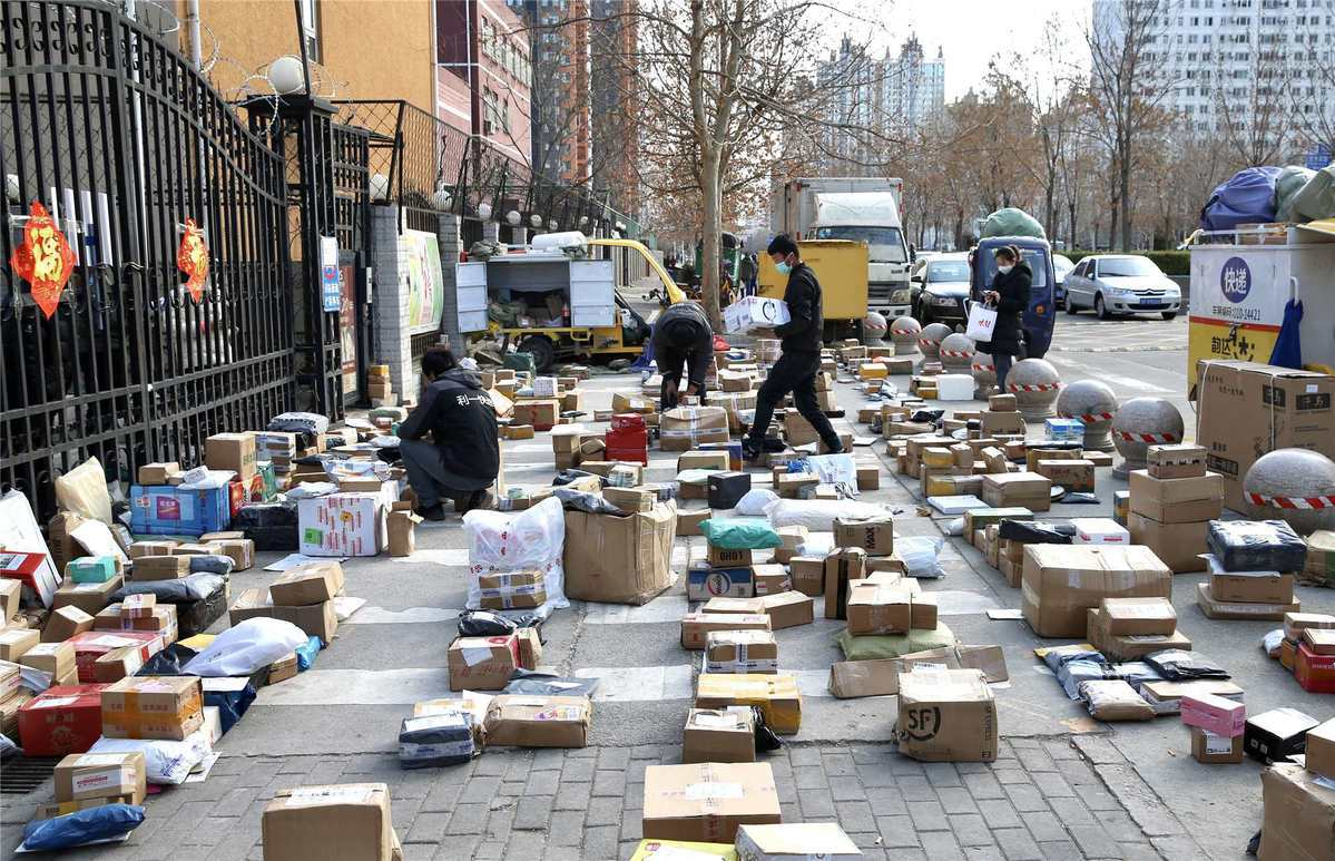 Epidemic boosts delivery business in China