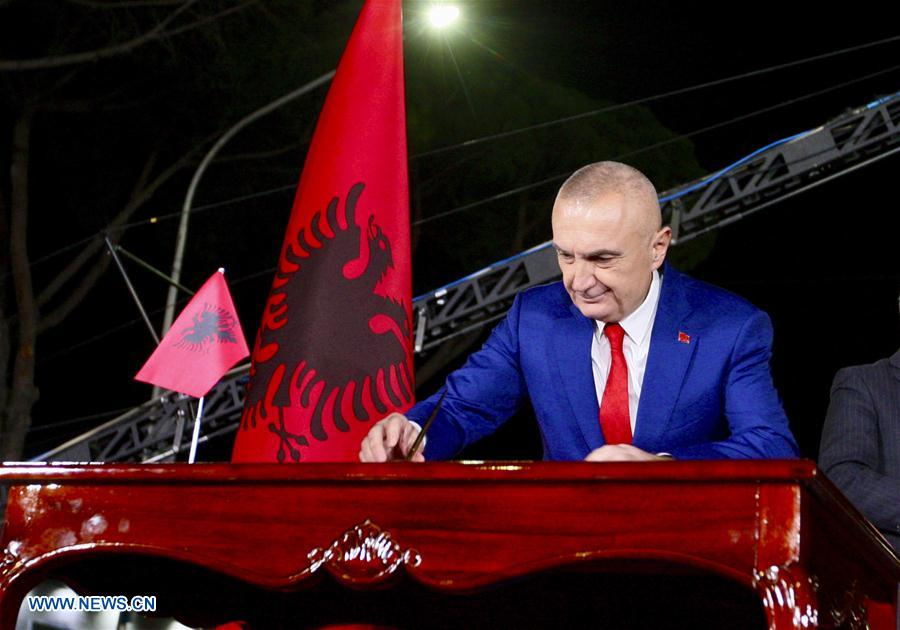 Anti-gov't rally in support of president staged in Albanian capital