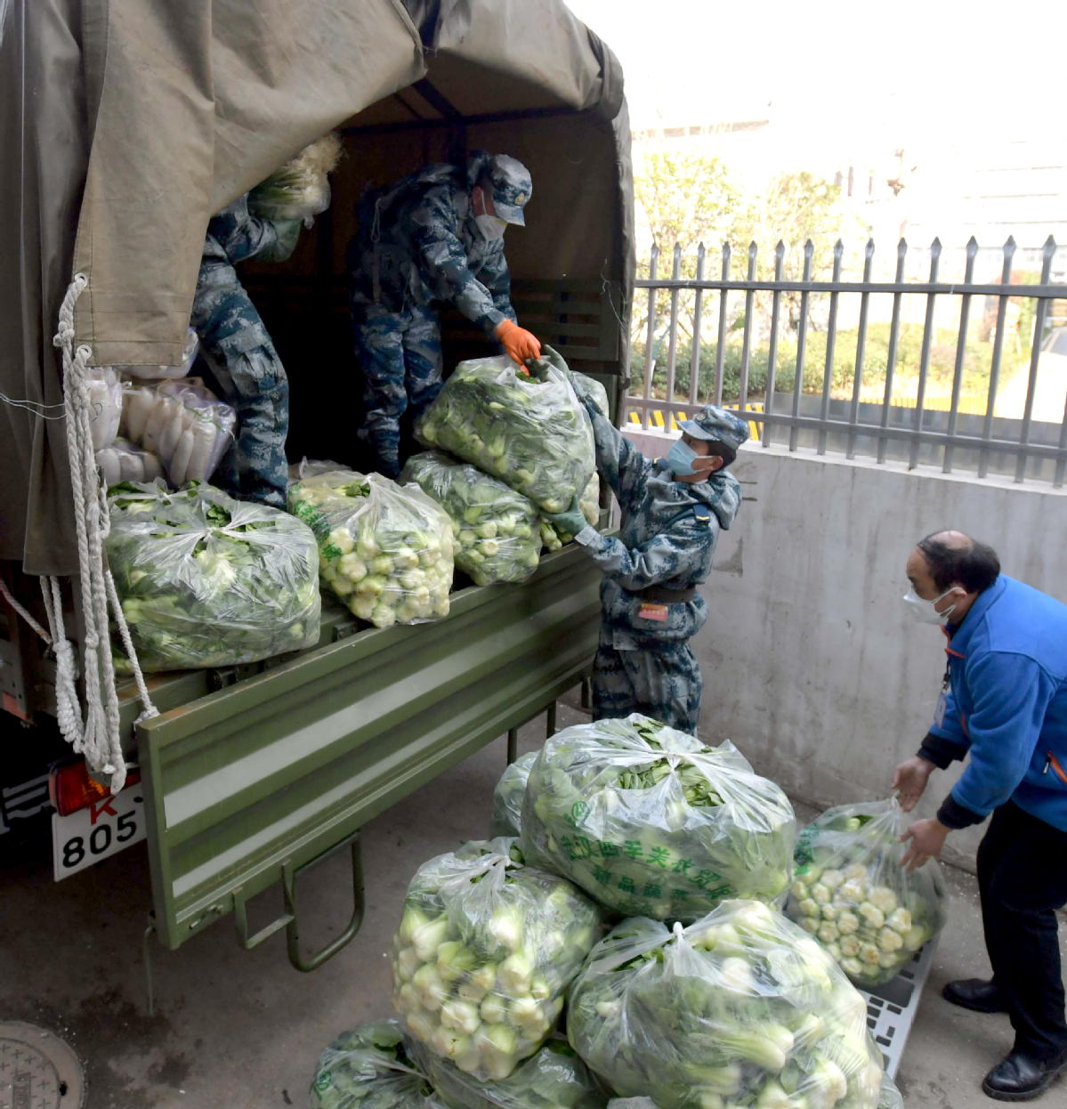 PLA team contributes to transportation of goods