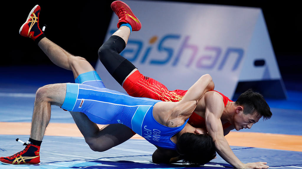 China wrestling team prepare for Olympics qualifier in Serbia