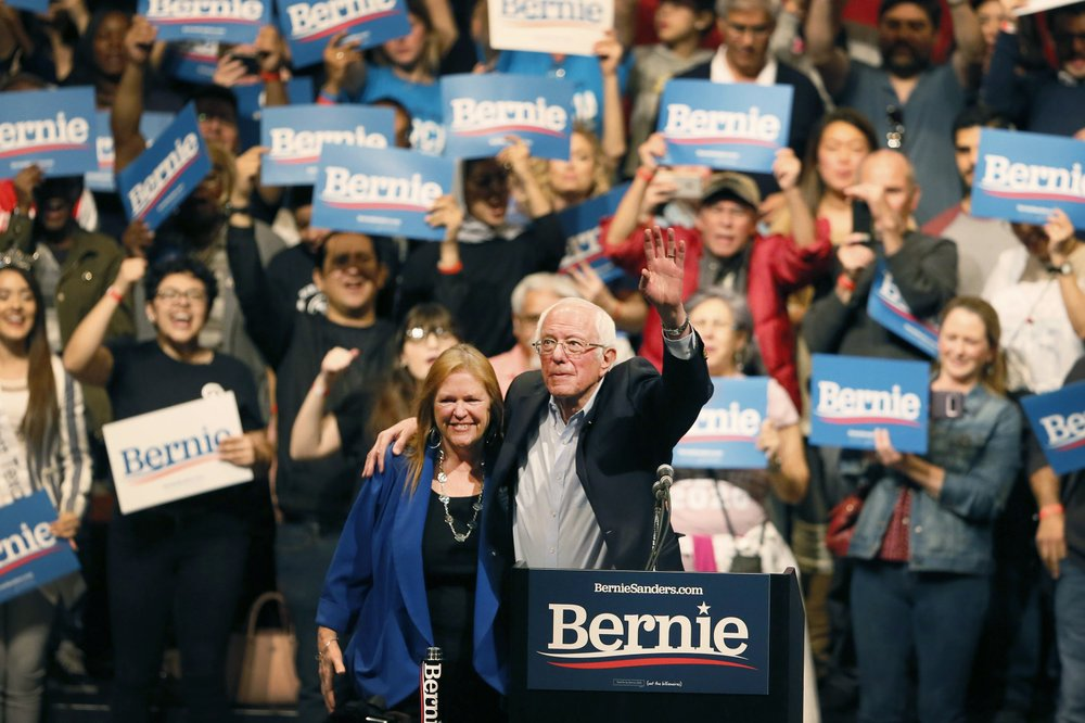 Disappointment, uncertainty at Sanders Super Tuesday rally