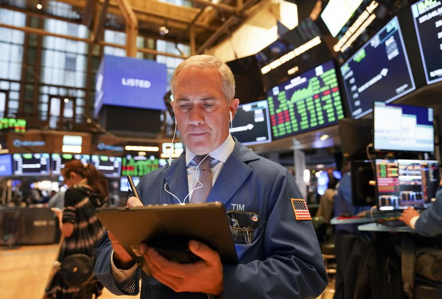 Dow jumps over 800 points amid rallying health care shares