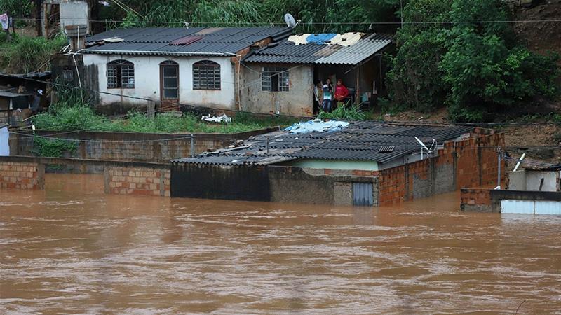 Rainpour damages house in India, killing 4