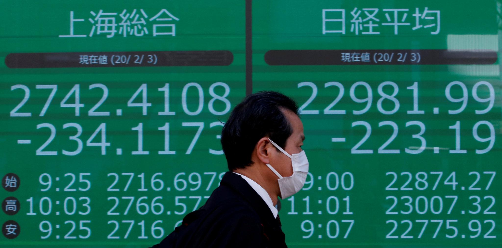 Tokyo stocks open lower following U.S., European routs on coronavirus spread