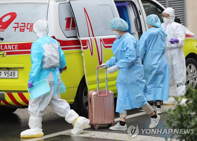 COVID-19 cases in S. Korea exceed 7,000