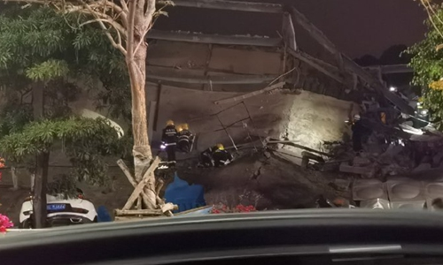 Collapsed hotel building in E.China confirmed as COVID-19 quarantine center
