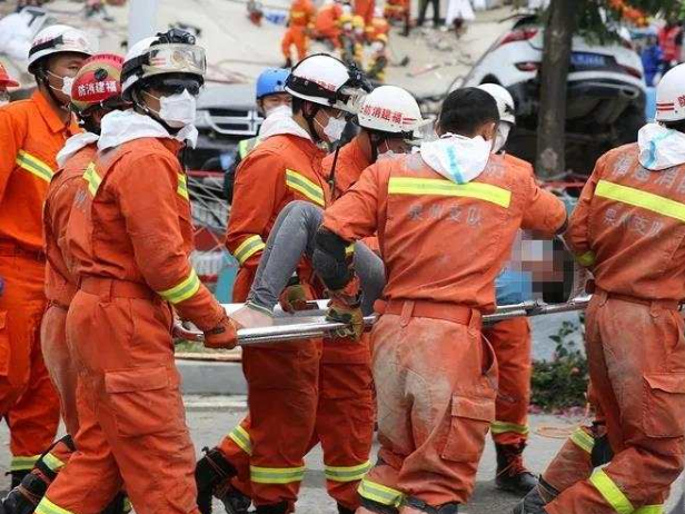 12-year-old boy, mother rescued from Quanzhou hotel collapse
