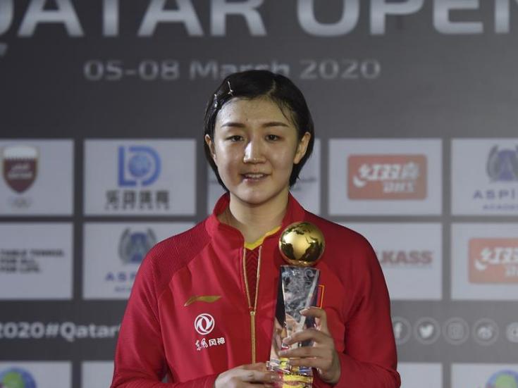 Chen Meng wins women's singles final match at 2020 ITTF Qatar Open